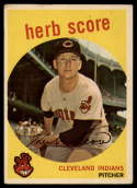 1959 Topps #88 Herb Score VG Very Good