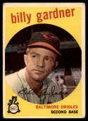 1959 Topps #89 Billy Gardner VG Very Good