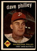 1959 Topps #92 Dave Philley VG Very Good