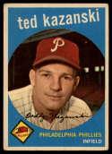 1959 Topps #99 Ted Kazanski VG Very Good gray back