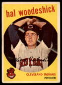 1959 Topps #106 Hal Woodeshick VG Very Good gray back RC Rookie