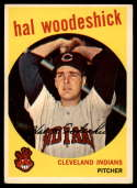 1959 Topps #106 Hal Woodeshick VG/EX Very Good/Excellent gray back RC Rookie