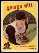 1959 Topps #110 George Witt VG Very Good white back RC Rookie