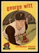 1959 Topps #110 George Witt EX Excellent white back RC Rookie
