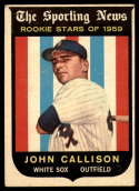 1959 Topps #119 Johnny Callison VG/EX Very Good/Excellent white back RC Rookie
