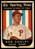 1959 Topps #121 Bob Conley VG Very Good white back RC Rookie