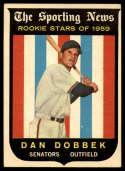 1959 Topps #124 Dan Dobbek VG/EX Very Good/Excellent white back RC Rookie