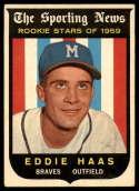 1959 Topps #126 Eddie Haas VG Very Good white back RC Rookie