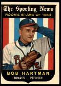 1959 Topps #128 Bob Hartman VG Very Good white back RC Rookie