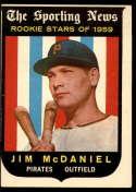 1959 Topps #134 Jim McDaniel VG Very Good white back RC Rookie
