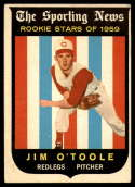 1959 Topps #136 Jim O'Toole UER VG Very Good white back RC Rookie
