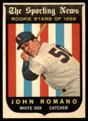 1959 Topps #138 Johnny Romano EX Excellent RC Rookie