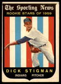 1959 Topps #142 Dick Stigman UER VG/EX Very Good/Excellent RC Rookie