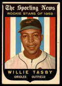 1959 Topps #143 Willie Tasby UER VG/EX Very Good/Excellent RC Rookie
