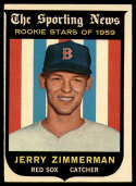 1959 Topps #146 Jerry Zimmerman EX++ Excellent++ RC Rookie