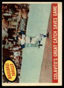 1959 Topps #462 Rocky Colavito Colavito's Great Catch Saves Game VG Very Good