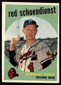 1959 Topps #480 Red Schoendienst EX Excellent