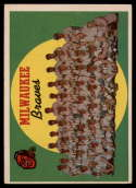 1959 Topps #419 Braves Checklist 353-429 VG/EX Very Good/Excellent