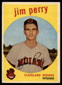 1959 Topps #542 Jim Perry EX Excellent RC Rookie