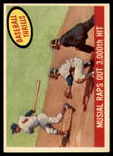 1959 Topps #470 Stan Musial Musial Raps Out 3000th Hit EX/NM