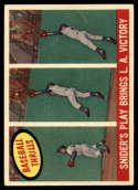 1959 Topps #468 Duke Snider Snider's Play Bring L.A. Victory VG Very Good