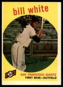 1959 Topps #359 Bill White VG/EX Very Good/Excellent RC Rookie
