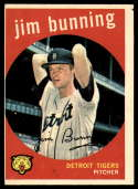 1959 Topps #149 Jim Bunning VG/EX Very Good/Excellent