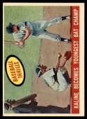 1959 Topps #463 Al Kaline Kaline Becomes Youngest Bat Champ VG/EX Very Good/Excellent