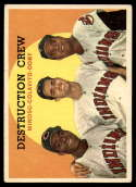 1959 Topps #166 Minnie Minoso/Rocky Colavito/Larry Doby Destruction Crew UER VG Very Good