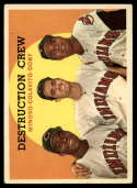 1959 Topps #166 Minnie Minoso/Rocky Colavito/Larry Doby Destruction Crew UER VG/EX Very Good/Excellent