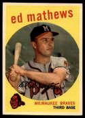 1959 Topps #450 Eddie Mathews EX/NM