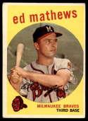 1959 Topps #450 Eddie Mathews VG Very Good