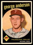 1959 Topps #338 Sparky Anderson VG Very Good RC Rookie