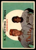 1959 Topps #317 Richie Ashburn/Willie Mays N.L. Hitting Kings UER VG Very Good