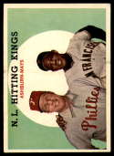 1959 Topps #317 Richie Ashburn/Willie Mays N.L. Hitting Kings UER VG/EX Very Good/Excellent