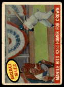 1959 Topps #461 Mickey Mantle Mantle Hits 42nd Homer For Crown G/VG Good/Very Good