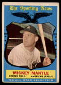 1959 Topps #564 Mickey Mantle AS G/VG Good/Very Good