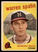 1959 Topps #40 Warren Spahn ERR G Good