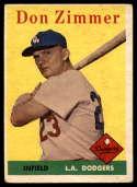 1958 Topps #77 Don Zimmer VG Very Good