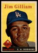 1958 Topps #215 Jim Gilliam VG/EX Very Good/Excellent