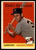 1958 Topps #263 Eddie Bressoud EX Excellent RC Rookie