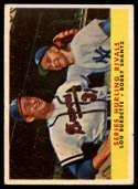 1958 Topps #289 Lew Burdette/Bobby Shantz Series Hurling Rivals VG Very Good