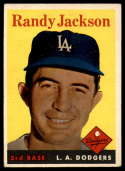1958 Topps #301 Randy Jackson VG/EX Very Good/Excellent