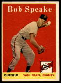 1958 Topps #437 Bob Speake EX Excellent