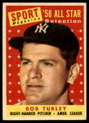 1958 Topps #493 Bob Turley AS EX Excellent