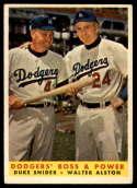 1958 Topps #314 Duke Snider/Walt Alston Dodgers' Boss & Power EX Excellent