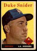 1958 Topps #88 Duke Snider VG Very Good