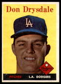 1958 Topps #25 Don Drysdale EX++ Excellent++