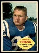 1960 Topps #6 George Preas EX/NM RC Rookie