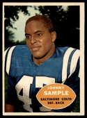 1960 Topps #9 Johnny Sample EX Excellent RC Rookie